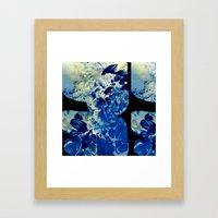 hidden blue peony Framed Art Print