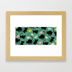 Cats on Coffee! Framed Art Print