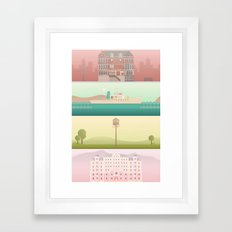 A Wes Anderson Collectio… Framed Art Print