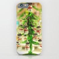 Snowmen Christmas Trees iPhone 6 Slim Case