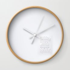 Design Advice (Utilize white space.) Wall Clock