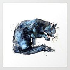 Cat series 2012: Midnight Blue  Art Print