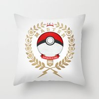 PokéMaster Throw Pillow