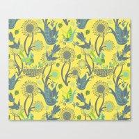 Birds and Acorns Canvas Print