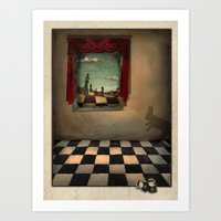 Through The Looking Glas… Art Print