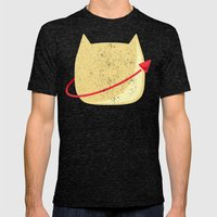 CatStronaut Emblem Mens Fitted Tee Tri-Black SMALL