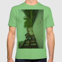 Stockholm, Sweden Old Streets Mens Fitted Tee Grass SMALL