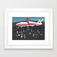 Airplane Crash Framed Art Print