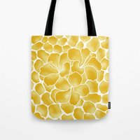 Hibiscus Animal: Yellow Tonal Tote Bag