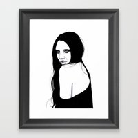 You Silent My Song Framed Art Print