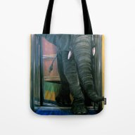 The Elephant In The Elev… Tote Bag