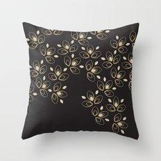Dark Blossoms Throw Pillow