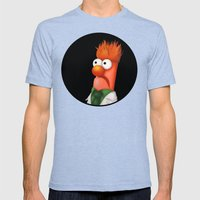 Beaker Mens Fitted Tee Tri-Blue SMALL