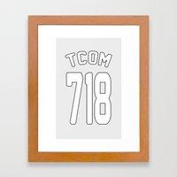 TCOM 718 AREA CODE JERSEY Framed Art Print