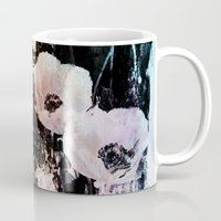 poppies on abstract background Mug