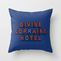 Divine Lorraine Hotel Throw Pillow