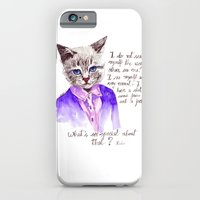 iPhone & iPod Case featuring Fashion Mr. Cat Karl Lagerfeld and Chanel by Smog