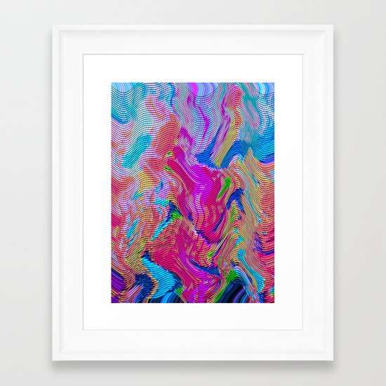 Tapestry Wave Framed Art Print