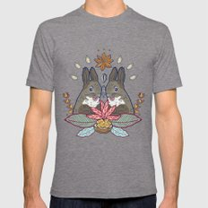 squirrel love Mens Fitted Tee Tri-Grey SMALL