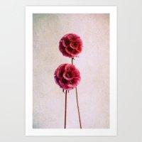 Pink Balls Art Print