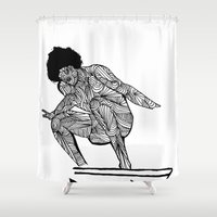 70s surfer Shower Curtain