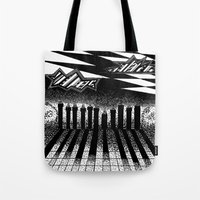 Descending Of Night At T… Tote Bag