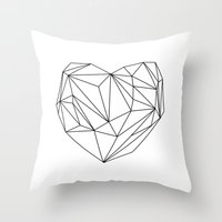 Heart Graphic (black On … Throw Pillow