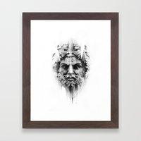 King Of Diamonds Framed Art Print