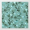 Blue flowers pattern Canvas Print