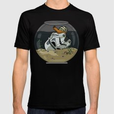 Snail Trooper Mens Fitted Tee Black SMALL