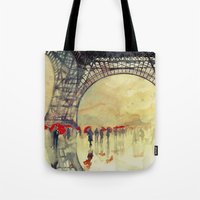 Winter In Paris Tote Bag
