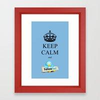 KEEP CALM TWITTER Framed Art Print