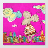 Urban Mouse Canvas Print