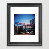 Milwaukee Framed Art Print