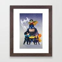 Bat-Family Framed Art Print