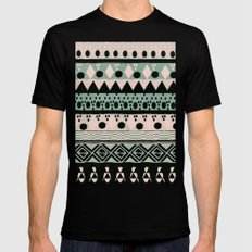 PASTEL NORDIC TRIBAL  Black Mens Fitted Tee SMALL