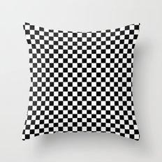 Checker Black and White Throw Pillow