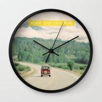 NEVER STOP EXPLORING - V… Wall Clock