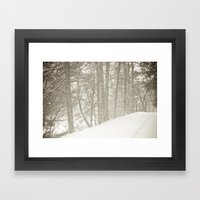Stopping By A Snowy Wood… Framed Art Print