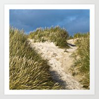 Scandinavian Sand Dune of Henne in Denmark Art Print