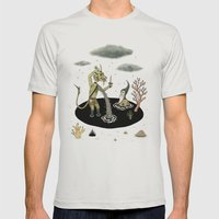 Shifting Tide Pool Mens Fitted Tee Silver SMALL