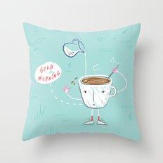 Coffee Buzz Throw Pillow