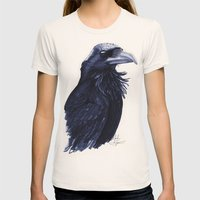 .Raven Womens Fitted Tee Natural SMALL