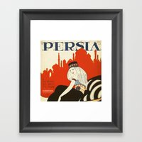 persia pillow Framed Art Print
