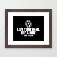 Live Together Framed Art Print