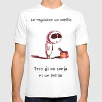 Cepillo Mens Fitted Tee White SMALL