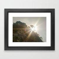 Shine Over Me Framed Art Print