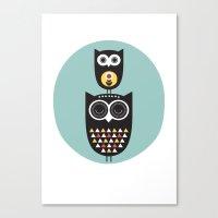 Owl Décor - Modern Nurs… Canvas Print