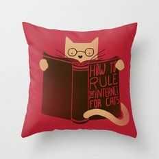 How to Rule the Internet (for cats) Throw Pillow