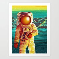 Space Man Art Print